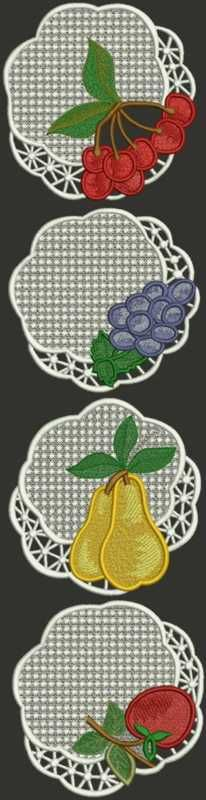 Advanced Embroidery Designs - Fruit Doily Set