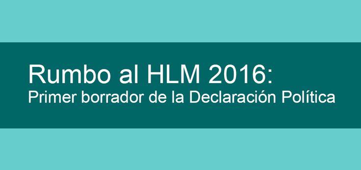 Rumbo al HLM 2016: Primer borrador de la Declaración Política