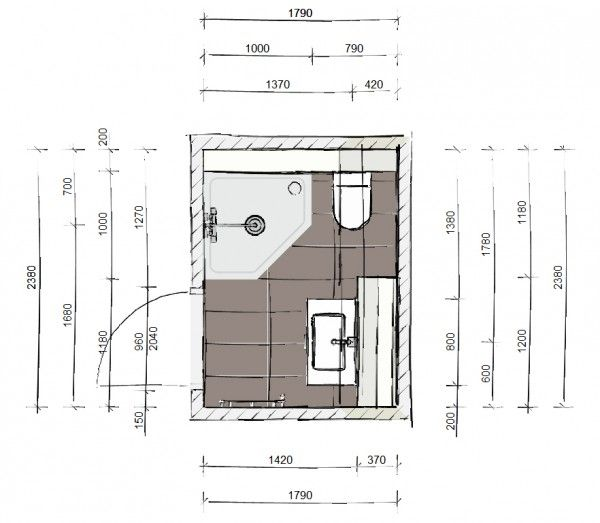 Ontwerp voor een kleine badkamer kleine badkamer pinterest - Kleine badkamer deco ...