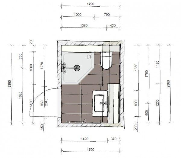 Ontwerp voor een kleine badkamer kleine badkamer pinterest for Plan kleine badkamer