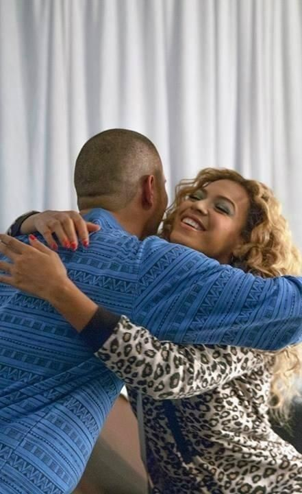 Beyonce with Stan Walker