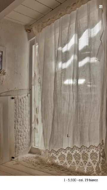 Love linen drapes, but without the border at the bottom, and not reaching quite to the floor