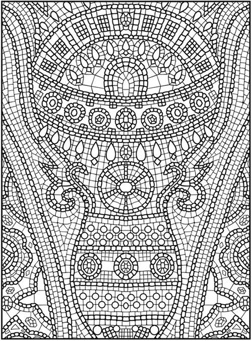 Printable Mosaic Coloring Pages for Free 7124 Mosaic Coloring
