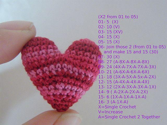 This is the Crocheted Heart Pattern ✭Teresa Restegui http://www.pinterest.com/teretegui/ ✭