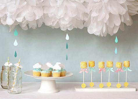 Blog_shower: Baby Shower Ideas, Shower Baby, April Shower, Partie, Cloud, Raindrop, Shower Theme, Rain Drop, Baby Shower