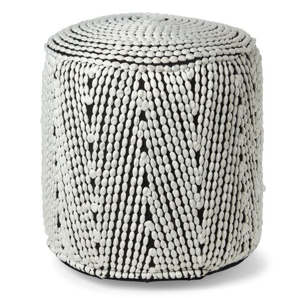 Direct Home Cylindrical Textured Pouf ($50) ❤ liked on Polyvore featuring home, furniture, ottomans, red, patterned ottoman, red furniture, red footstool, red ottoman and woven furniture