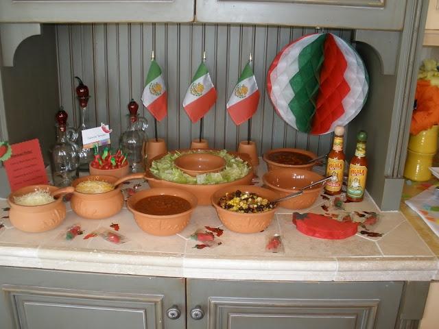 Condiment bar for Cinco De Mayo