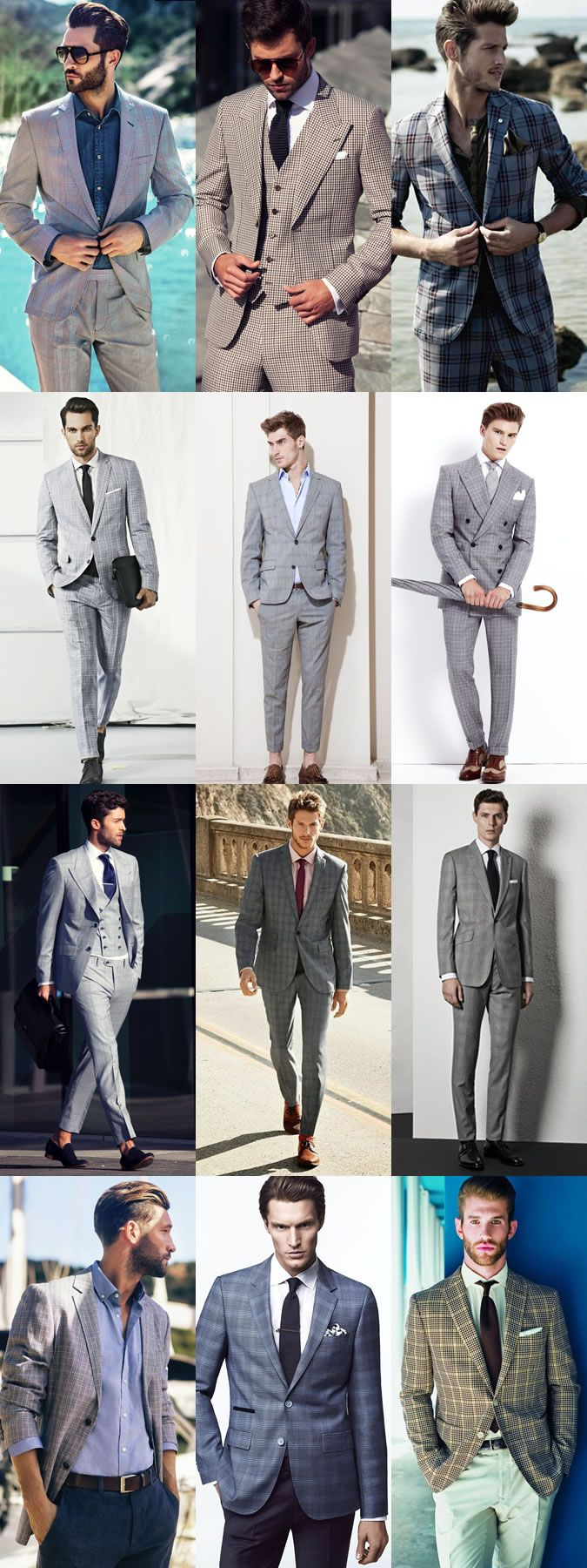 5 Key Men's Suit Styles For 2014 Spring/Summer: The Checked Suit - Full Suit & Separates Lookbook Inspiration