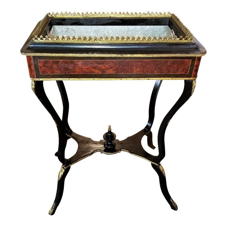 19th Century Napoleon III Ebony and Amboyna Jardinière