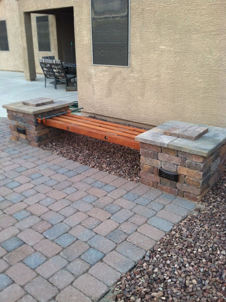 DIY Rumblestone 4 Beam Bench With Stone Spacers And 58