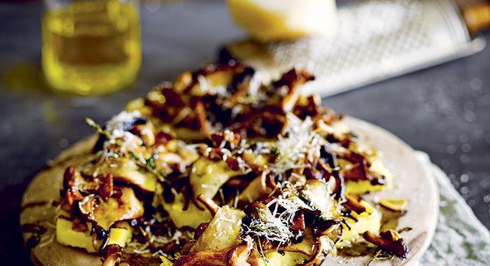 Polenta grigliata con funghi e timo Jamie Oliver  http://www.jamiemagazine.it