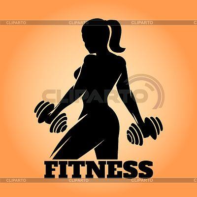 Фитнес девушку Эмблема | Векторный клипарт | ID 5391365