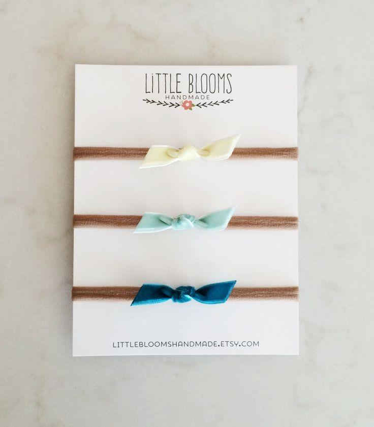 Velvet Knot Headband - nylon headband - choose your colors by LittleBloomsHandmade on Etsy https://www.etsy.com/listing/235923453/velvet-knot-headband-nylon-headband