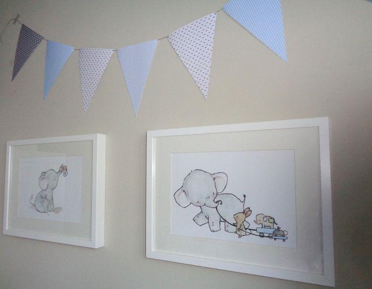 Las 25 mejores ideas sobre acuarela de elefante en - Cuadros para habitacion bebe ...