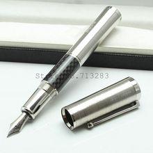 Mb caneta gandi capa de fibra de carbono de luxo escritório escola suprimentos escrita da pena frete grátis(China (Mainland))
