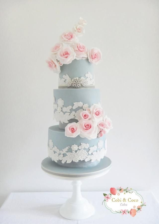 wedding cakes los angeles prices%0A Wedgwood Blue Wedding Cake by CobiandCocoCakes  http   cakesdecor com cakes