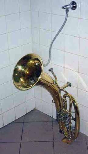 A musical instrument tuned Urinal
