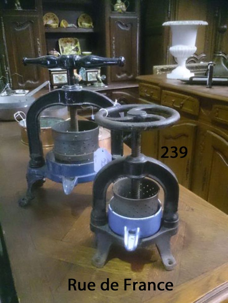 Antique French Kitchen fruit presses
