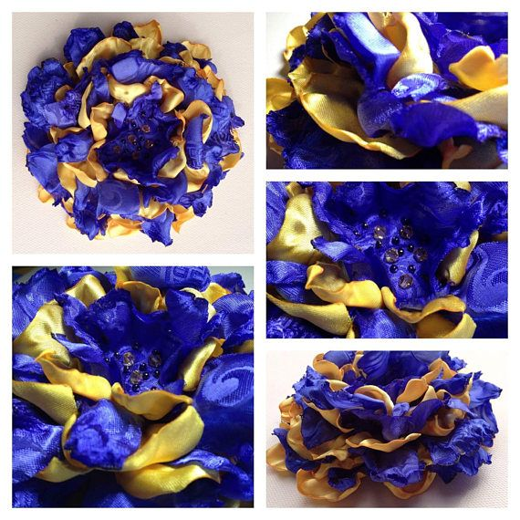 Check out this item in my Etsy shop https://www.etsy.com/ca/listing/560481505/organza-and-satin-handmade-flower-brooch