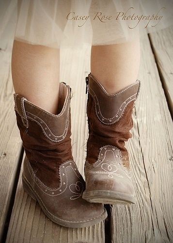 Cowboy boots for a rustic wedding flower girl