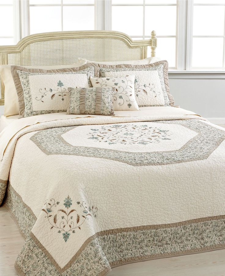 Nostalgia Home Bedding, Agnes Bedspreads - Quilts & Bedspreads - Bed & Bath - Macy's $240 spread and shams