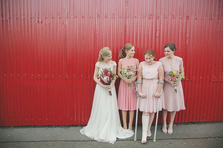 Pink Wedding Dresses Ireland : In mis match pink bridesmaid dresses irish country wedding