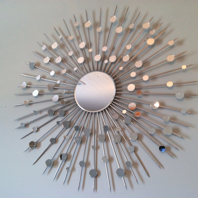 Diy Sunburst Mirror Made With Bbq Skewers Used This As