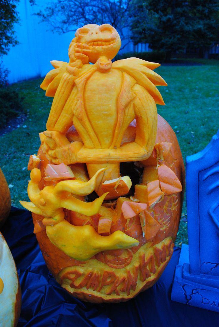 Wa walking dead pumpkin stencil - Pumpkin Carvings
