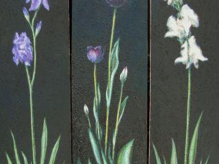 """""""trittico"""" 2009 Olio e mattone su tela 70×20 cad."""