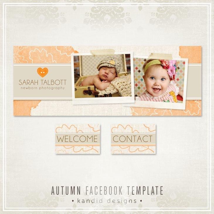 Autumn Facebook Templates - Fall Leaves - Kandid Designs