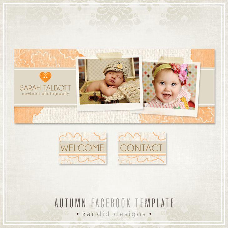 Autumn Facebook Templates - Fall Leaves - Kandid Designs