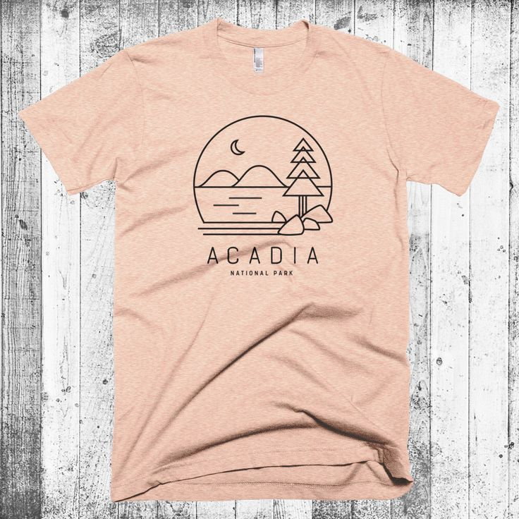 Acadia T Shirt, Maine T Shirt, Acadia National Park, Hipster Modern
