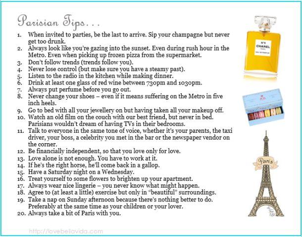 How to be Parisian.