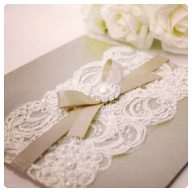 Vintage Wedding Invitations Lace And Pearls