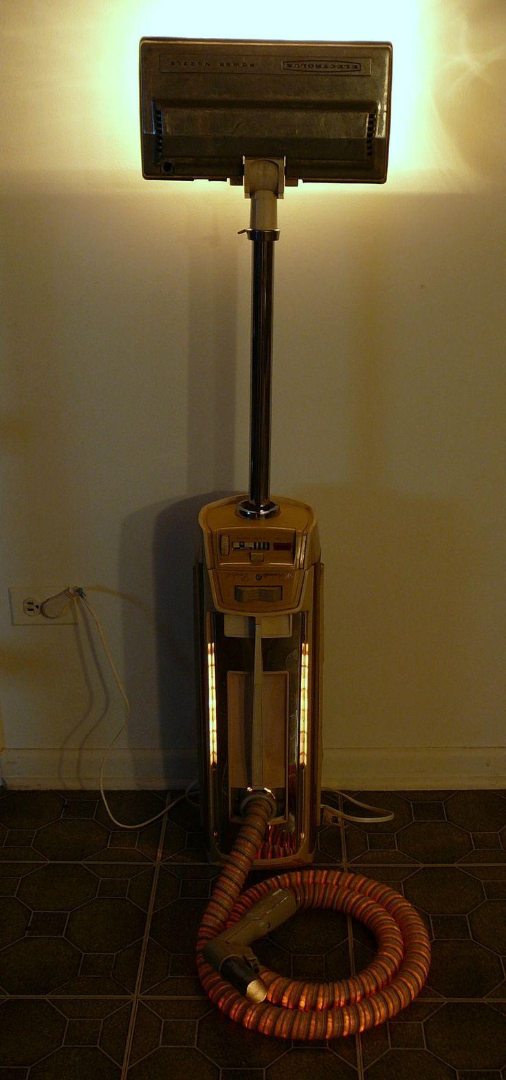 items similar to mr mom custom lighting design vintage electrolux vacuum with upcycled illuminated hose on etsy - Electrolux Canister Vacuum
