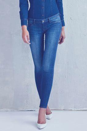 Jeans Skinny Vita Bassa Blu
