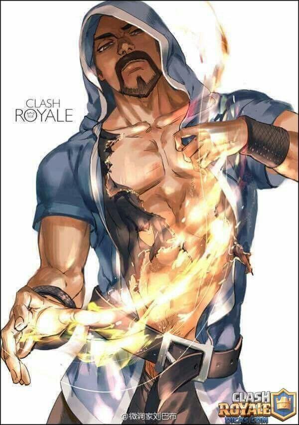 Resultado de imagen para clash royale mago de hielo anime