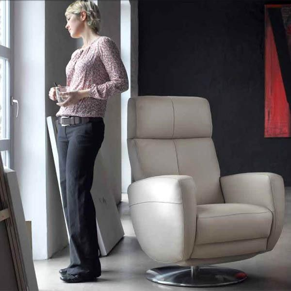 Exceptional Twist Swivel Recliner By ROM, Belgium An Easy Action Rail System With A Gas