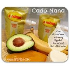 Cado Nana - Avocado in a smoothie? And it tastes really good! Your kids will love this too #sinchies #resuablefoodpouch #smoothie #healthy #kids #lunchbox #babies