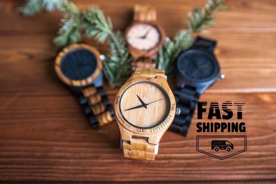 Engraved wood watch, Wood watch, Unisex watch,Ladies watch,5 year anniversary,Cool watches,Minimalist watch,Boyfriend watch,Anniversary gift