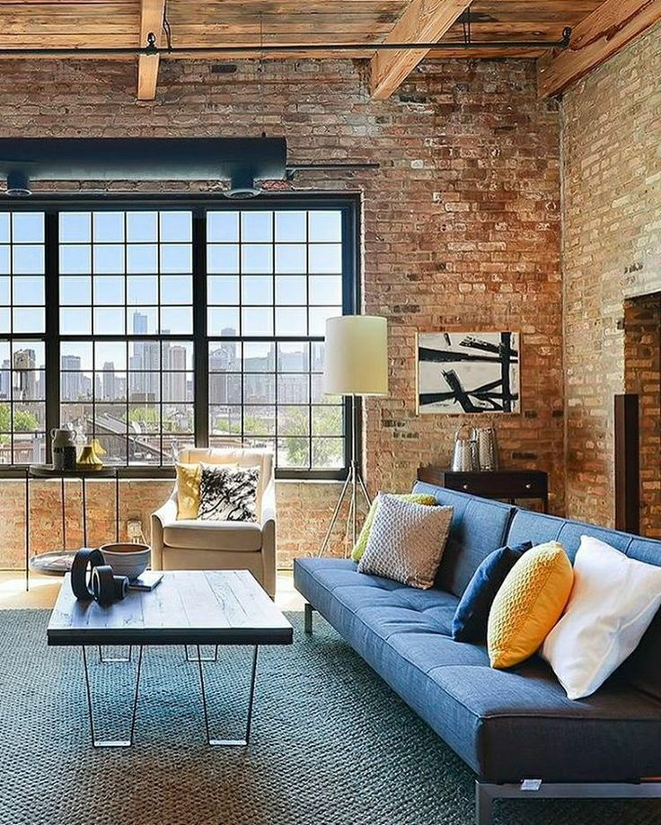 The brick walls and the modern interiors