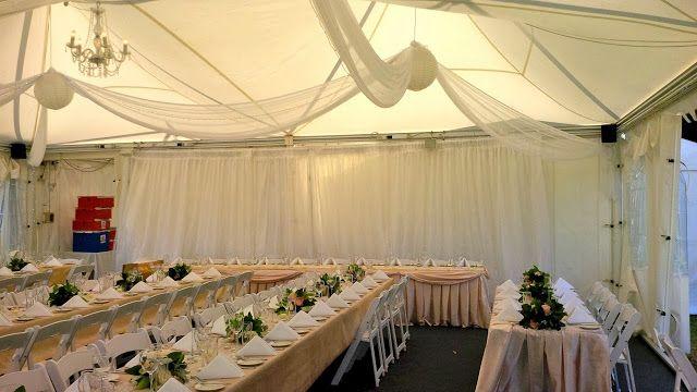 #PeppersConvent #TowerLodge #vintage #wedding #whitefoldingchairs #HunterValleyWeddings #huntervalley #pokolbin #beige #tablecloths #ceilingdrapery