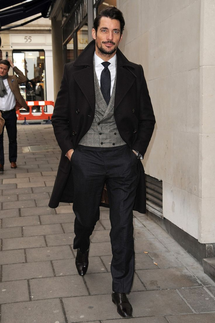 The king of the mixed-up three-piece returns, this time sporting his now-signature suiting style to the near-legendary GQ Christmas Lunch at Quaglino's in London.
