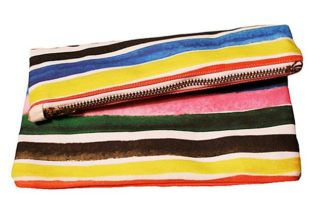 Ice Pop Striped Mini Zipper Clutch on OneKingsLane.com | to: Make ...