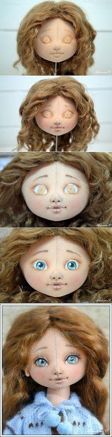 Роспись лица куклы. МК.