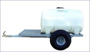 The quad bike bowser range has been designed for the safe transportation of water to isolated areas without access to a mains water supply. This ATV water bowser can be adapted to supply potable water (black tank only) with our selection of pumps. Capacity of this water bowser is 700 L. For more info contact us at: http://www.fresh-group.com/waterers-and-bowsers.html