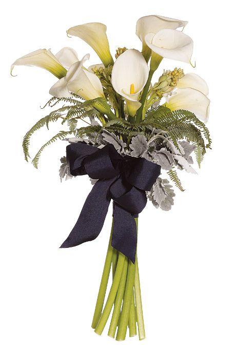 Winter Silver Wedding  Brides Maid Bouquet    Calla Lilies white,silver,gray Beautiful!