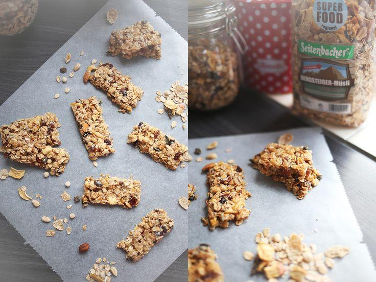 Food // Recipe: Power für den Tag mit dem Bergsteiger-Müsli von Seitenbacher // Rezept für selbstgemachte Müsliriegel und Müsli-Kekse