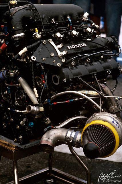 1986 Honda V-6 Turbo Formula 1 - from the Cahier Archive via Motorsport Retro