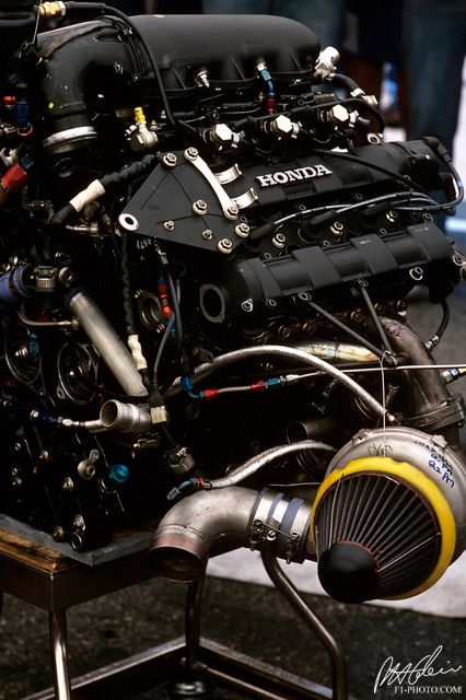1986 Honda V-6 Turbo Formula 1 - from the Cahier Archive via Motorsport Retro